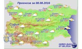 8 августа 2016 года Погода в Болгарии