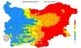 8 августа 2016 года Болгария пожароопасность