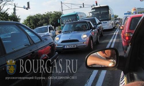 Автомобильные пробки на дорогах Бургасской области