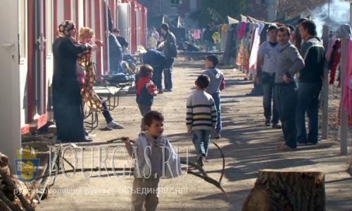 лагерь беженцев в городе Харманли в Болгарии