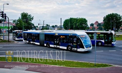 Новые автобусы-шатлы вышли на городские маршруты в Бургасе