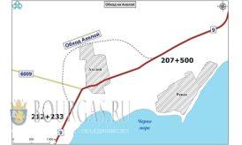 план объездной дороги в Ахелой Бургасская область