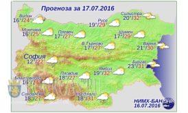 Погода Болгария 17 июля 2016 года