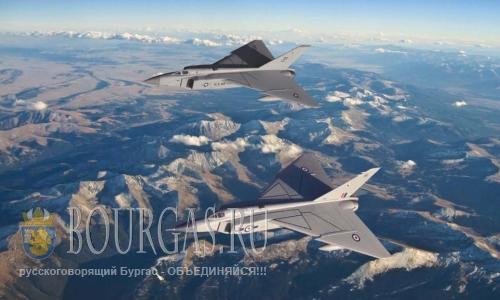 самолеты ВВС США в небе Болгарии