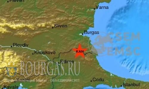 землетрясение в Малко Тырново