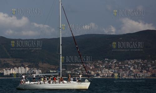 10 сентября 2016 года, яхта в Черном море, вид на Свети Влас