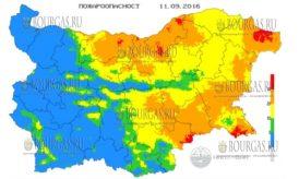 11 сентября 2016 года Пожарная опасность в Болгарии