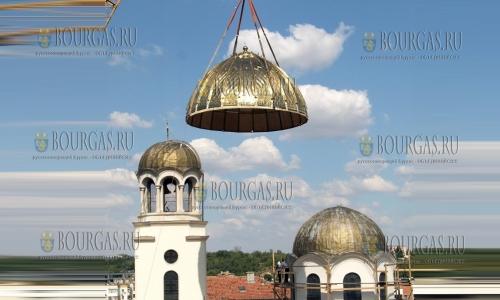 12 сентября 2016, Шумен, новый титановый купол храма - Свети Три Светители