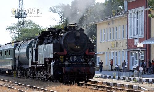 13 сентября 2016, Хасково, ретро состав пребывает на городской вокзал