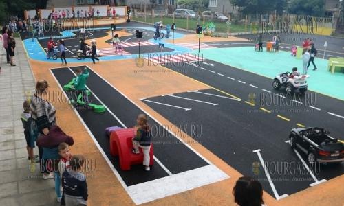 22 сентября 2016, Тырговище, детский мобильный центр безопасности дорожного движения был открыт в одном из детских садов города