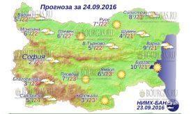 24 сентября 2016 года Погода в Болгарии