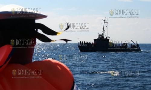 26 сентября 2016 года, Варненский залив, ритуал отдания воинских почестей по случаю 100-летия гибели капитан-лейтенанта Кирила Минкова
