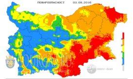 3 августа 2016 года Болгария пожароопасность