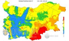 3 сентября 2016 года Пожарная опасность в Болгарии