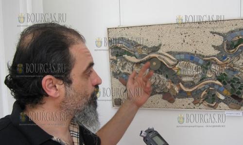 5 сентября 2016 года, Плевен, выставка мозаик художника Страхила Найденова,выполненных в римском стиле