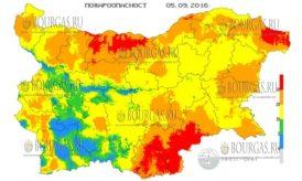 5 сентября 2016 года Пожарная опасность в Болгарии