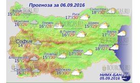 6 сентября 2016 года Погода в Болгарии