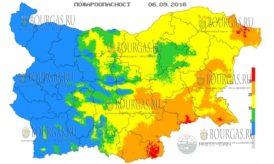 6 сентября 2016 года Пожарная опасность в Болгарии