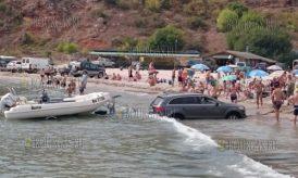 На одном из пляжей в Болгарии чуть не утонул новый джип