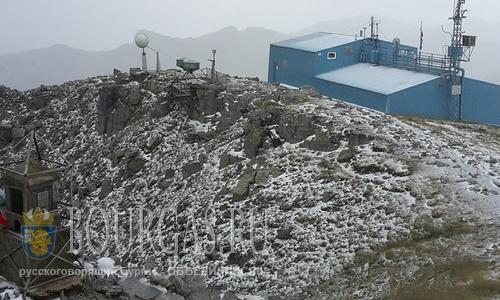 Вчера в Болгарии на Мусале выпал первый снег