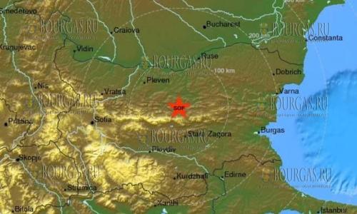землетрясение в Болгарии у города Трявны