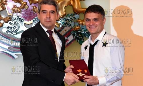 13 октября 2016 года, София, болгарский скрипач Васко Василев удостоен ордена Святых Кирилла и Мефодия I степени