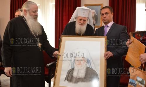 16 октября 2016 года, Троянский монастырь, болгарский Патриарх Неофит принял поздравления с днем рождения и освятил новое крыло Троянского монастыря