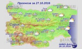 27 октября 2016 года, погода в Болгарии