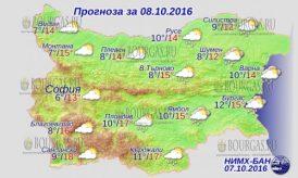 8 октября 2016 года, погода в Болгарии