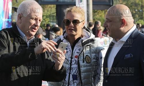 9 октября 2016 года, София, Софийский марафон - великая болгарская спортсменка, глава БОК Стефка Костадинова