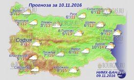 10 ноября 2016 года, погода в Болгарии