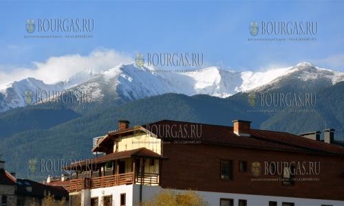 11 ноября 2016 года, Банско, зима у порога - в горах Пирин снег укрыл вершины Вихрен и Тодорка