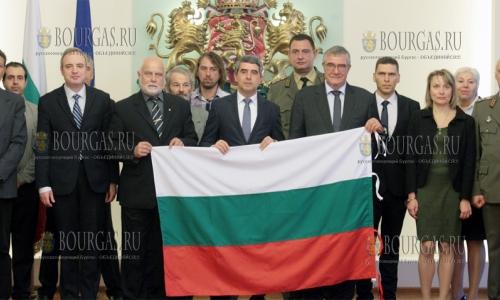 2 ноября 2016 года, София, президент Болгарии - Росен Плевнелиев, принял учатников 25 болгарской Антарктической экспедиции и вручил им флаг Болгарии