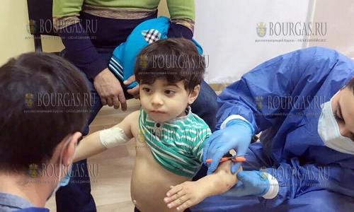 22 ноября, Харманли, врачи из Военно-медицинской академии Софии - осмотрели беженцев, которые находятся в местном Центре временного содержания, беженцы в Харманли