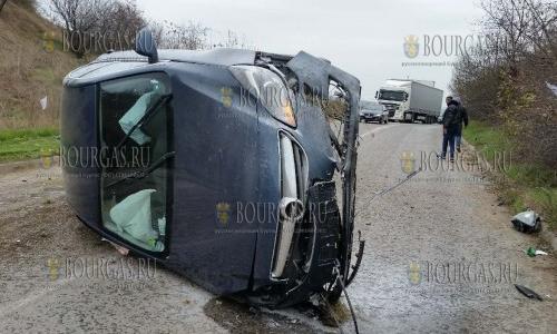 24 ноября, трасса София - Козлодуй, авария легкового авто серьезно серьезно затруднило передвижение автотранспорта, жертв нет