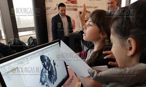 25 ноября, Национальный дворец культуры в Софии, проходит Детская ярмарка профессий - пришедшие детки узнают интересные подробности о 25 различных профессиях