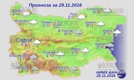 29 ноября 2016 года, погода в Болгарии