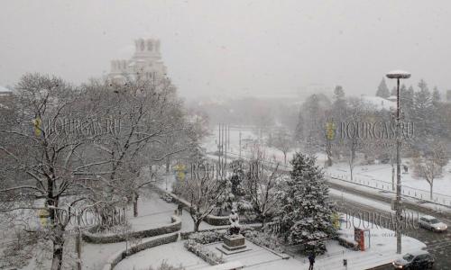 29 ноября, София, все улицы столицы Болгарии в снегу