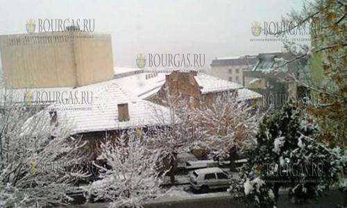 30 ноября, Велико Тырново, первый снег 2016 года