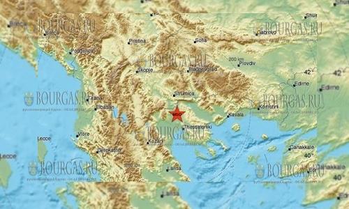 В Греции землетрясение 5 баллов, его ощущали в Болгарии