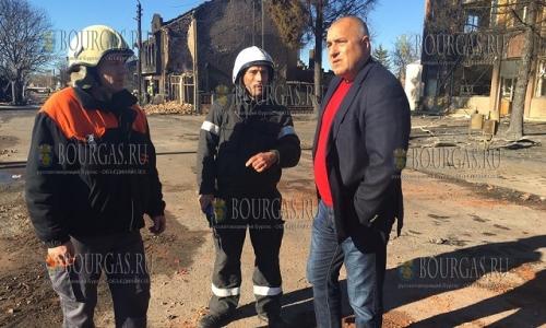 11 декабря, селение Хитрино, премьер-министр Болгарии в отставке - Бойко Борисов, держит обстановку по устранению последствий катастрофы на контроле