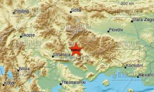 15 декабря 2016 года произошло землетрясение в Болгарии