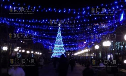 2 декабря, Поморие, зажглись огни на главной елке приморского города-курорта