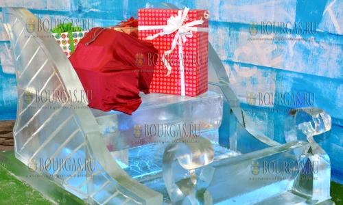 21 декабря, Варна, до 24-го декабря в столице северного Причерноморья проходит выставку ледяных скульптур