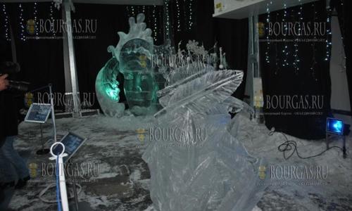 """22 декабря, Русе, выставка ледяных скульптур """"Айс феста"""" начала свою работу"""