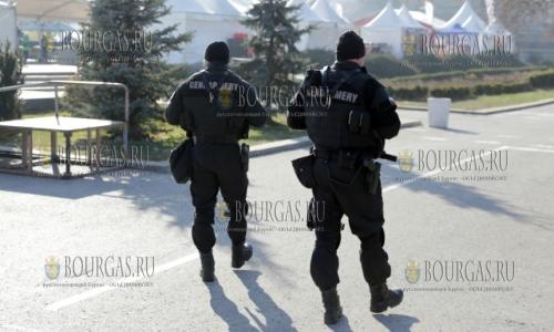 23 декабря, София, жандармения охраняет общественный порядок на фестивале - София мези