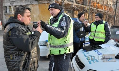 24 декабря,дорожная полиция в Хасково проводит массовые проверки водителей на употребление ими алкоголя