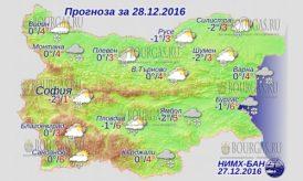 28 декабря 2016 года, погода в Болгарии