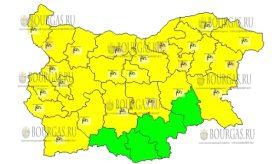 28 декабря 2016 года, ветреный Желтый код в Болгарии