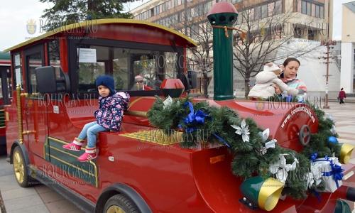 6 декабря, Благоевград, по улицам города теперь курсирует Рождественский поезд
